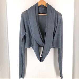 Nicholas K Shawl Wrap Linen Cardigan Medium